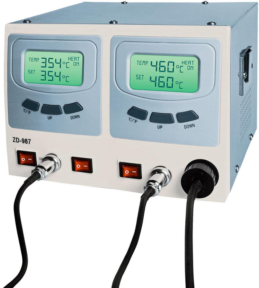 Паяльная станция ZD987 (аналог ZD917) цифровая антистатическая