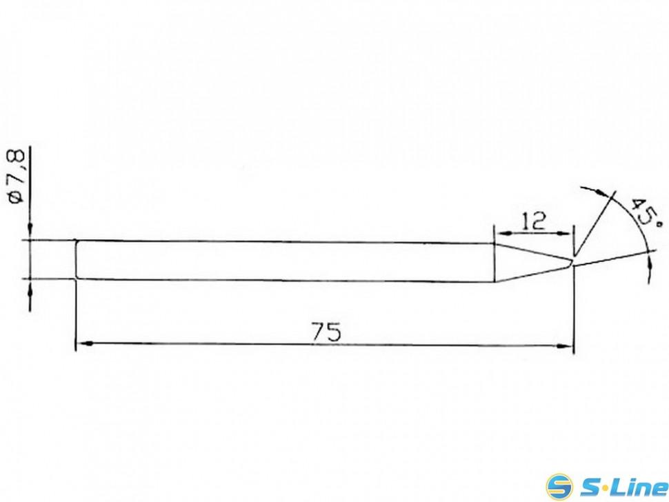 Жало сменное долговечное B5-3 под винт d=7.8mm(нихромовый нагреватель)
