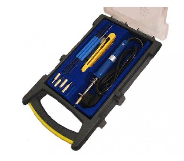 ZD-923A Набор инструментов в футляре с ручкой (пластик)