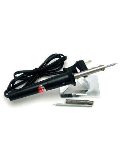 Паяльник электрический ZD406K 40W (керамический нагреватель)'CE' c подставкой,припоем в фасовке,сменным долговечным жалом