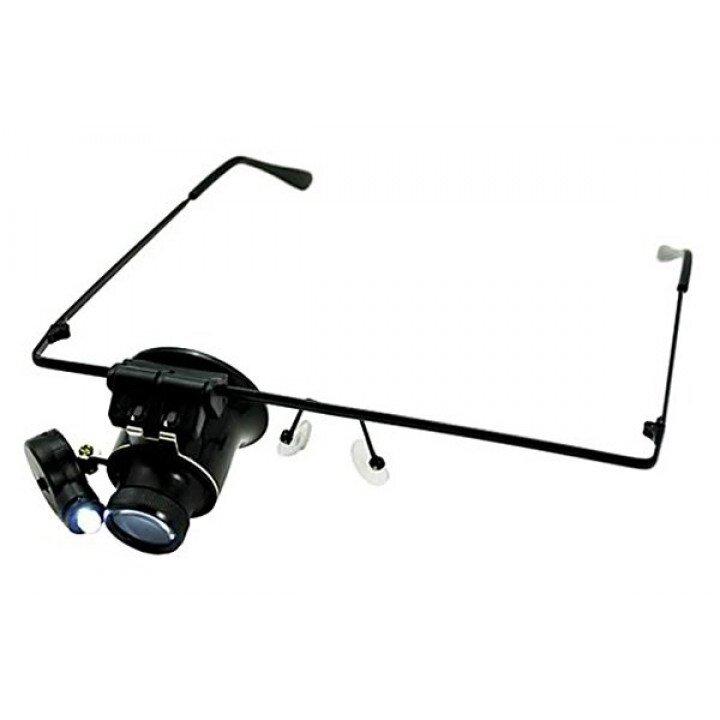 MG9892A Лупа-очки монокулярная с LED подсветкой
