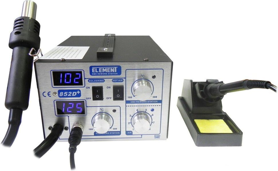 Паяльная станция ELEMENT 852D+ (цифровая индикация)
